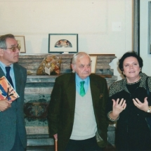 Carlo Antonio Ponti(critico d'arte e curatore mostra)-Otello Fabri(artista)-Alida Nardini(assessore cultura comune terni)